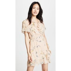 Paige 100% silk Cardamom Floral Mini Wrap Dress